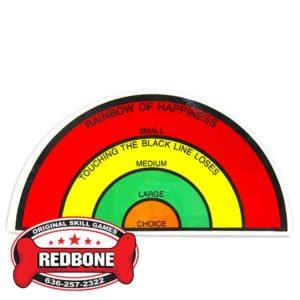 25 cent Rainbow Target