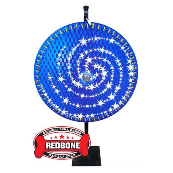 Blue star swirl wheel