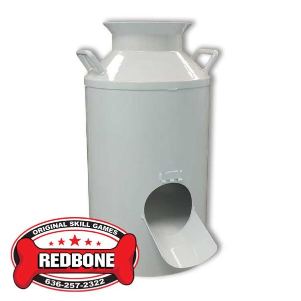 Milk Can Plain White