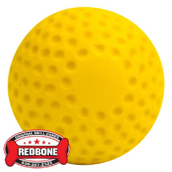 Plastic Dimple Baseball Yellow